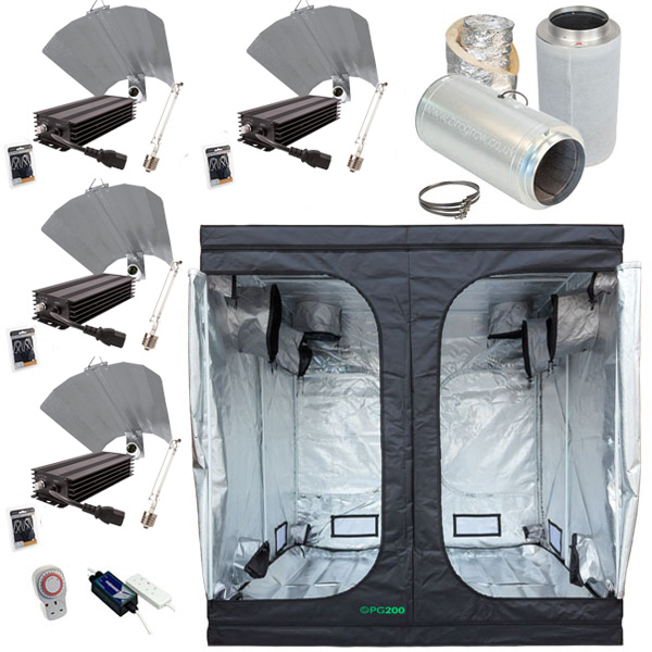 PG200 Grow Tent Kit Digital 600w x 4  sc 1 st  Hydroponics from Progrow & Grow Tent Kits. Cheap Small u0026 Large Kits For Beginners - Progrow
